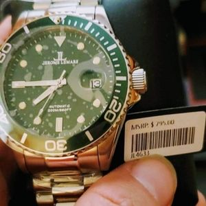 Jerome Lamar's green face mens watch